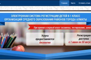 ВАлматы заработает электронная система регистрации детей вшколу