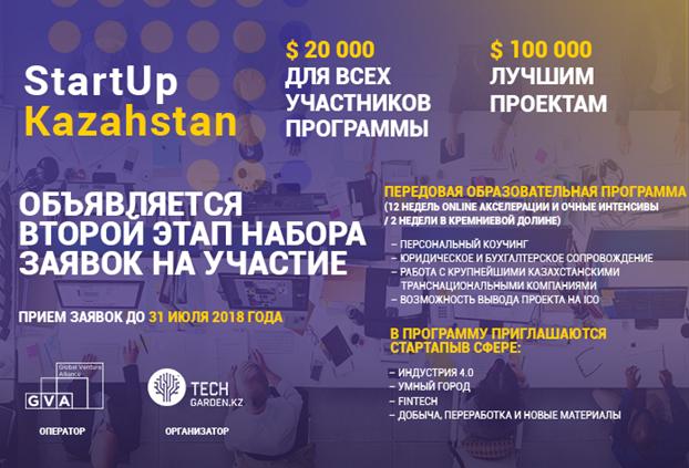 Стартовал новый отбор заявок на StartUp Kazakhstan